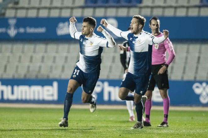 Néstor Querol fue el autor del empate arlequinado ante el CD Castellón | Foto: CE Sabadell FC