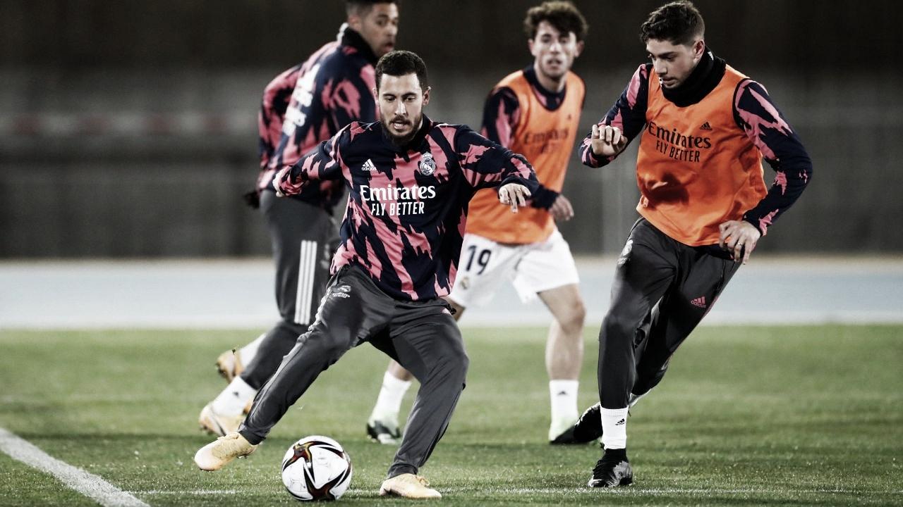 El Real Madrid continúa ejercitándose en Málaga