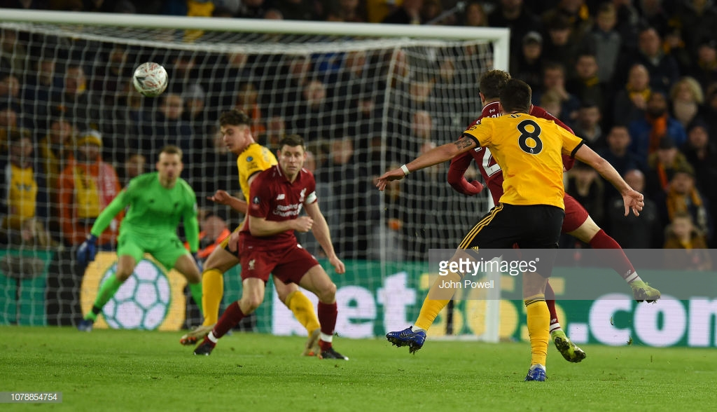 Wolves 2-1 Liverpool: Neves wonder strikedumps lacklustre Reds out of the FA Cup