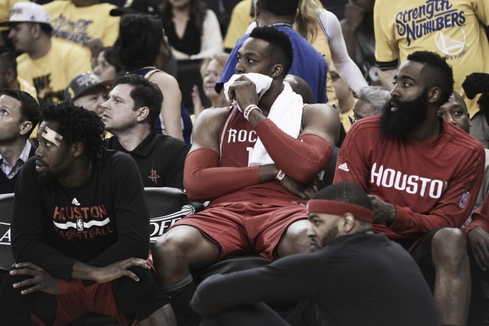 Golden State Warriors destroy Houston Rockets, 104-78, in Game 1