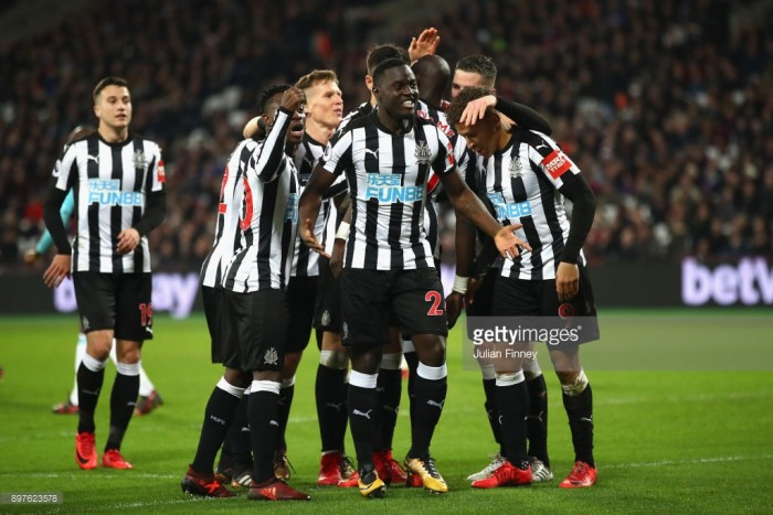 West Ham 2-3 Newcastle: Magpies climb out of drop zone with first win in ten