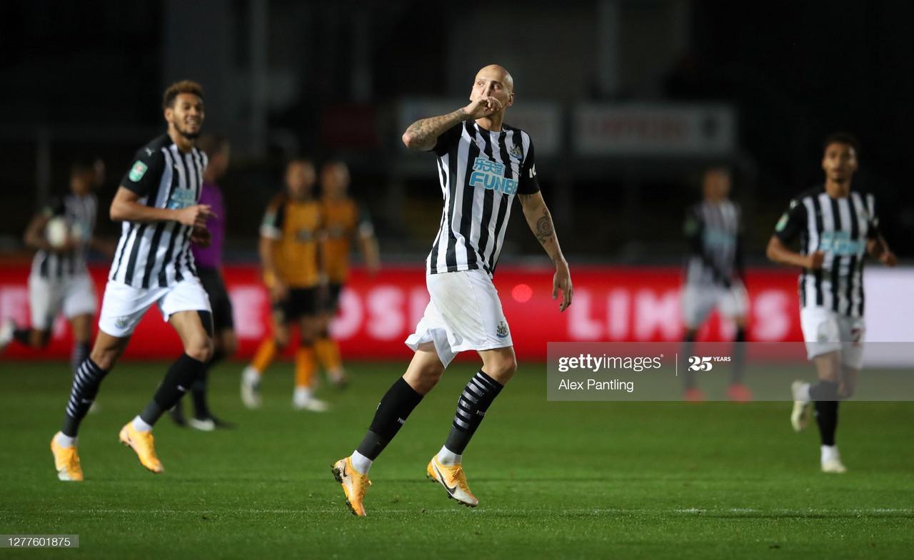 Newport County 1-1 Newcastle United (4-5 on penalties): Newcastle scrape through on penalties following late Shelvey equaliser