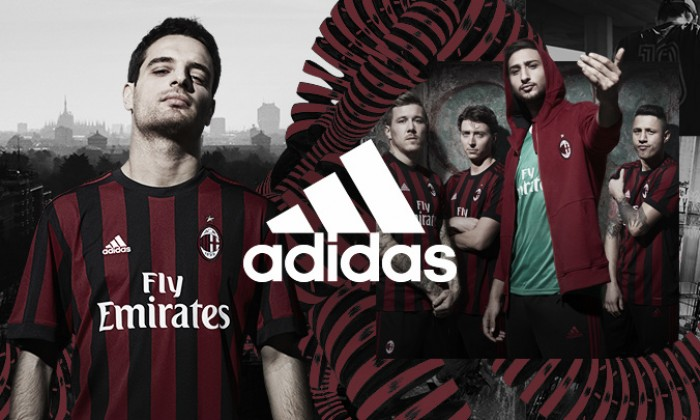 Com design retrô, Adidas e Milan divulgam uniforme principal para próxima temporada