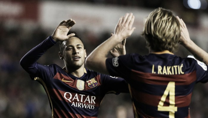 Neymar Jr y Rakitic, amarilla y suspensión