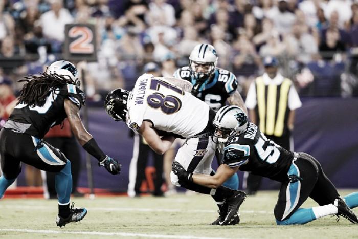 Na abertura da pré-temporada da NFL, Ravens batem Panthers em Baltimore