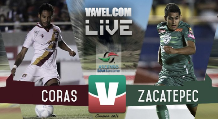 Resultado Coras Tepic - Zacatepec en Ascenso MX 2016 (2-1)