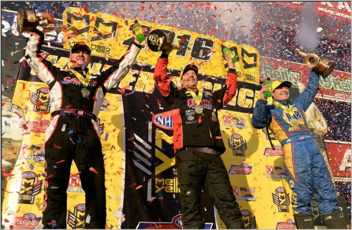 Greg Anderson, Ron Capps and Steve Torrence Win In Pomona