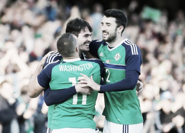 Northern Ireland 3-0 Belarus: Lafferty scores on 50th appearance to set up comfortable win