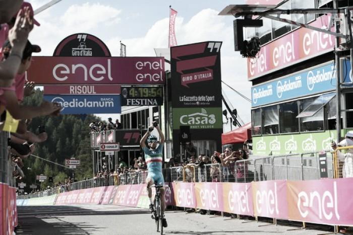 Giro d'Italia, Nibali risorge e trionfa a Risoul. Kruijswijk cade e poi crolla, Chaves in rosa