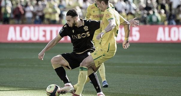 Nice joga mal, mas dupla de ataque garante vitória sobre Nantes no fim