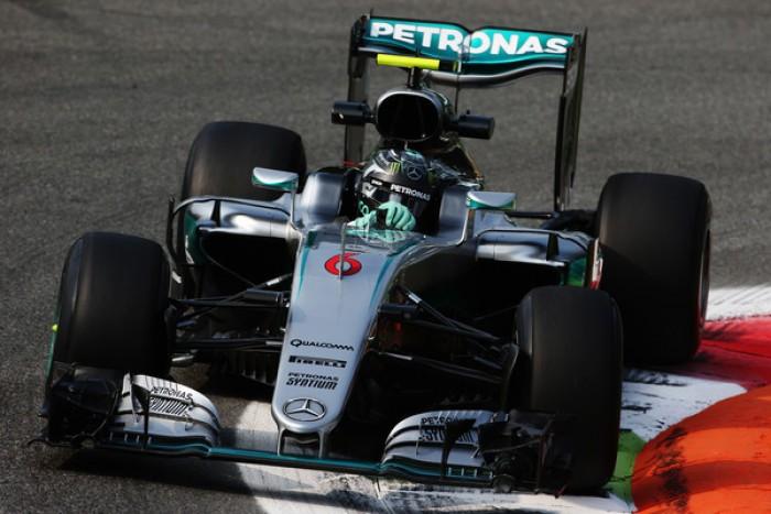 Monza, è subito Mercedes: Rosberg comanda le FP1