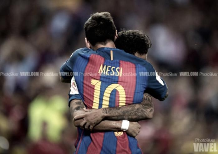 Messi se despide de Neymar