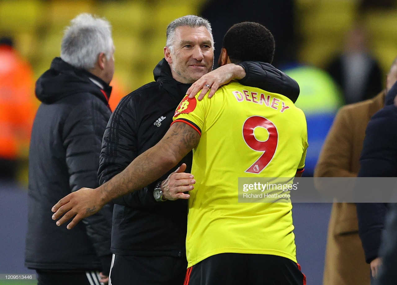 "Pearson ""really proud"" of his Watford side following victory over Liverpool"
