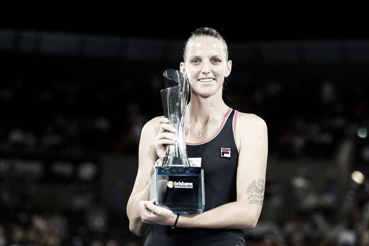 Pliskova vira diante de Tsurenko e volta a conquistar WTA de Brisbane após dois anos
