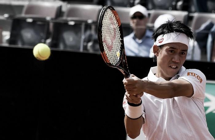 Kei Nishikori supera Dominic Thiem e está na semifinal em Roma