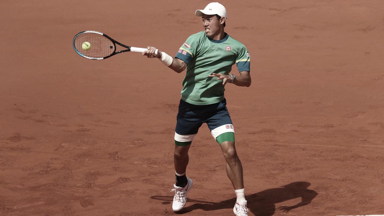 Nishikori elimina Khachanov em partida de quase quatro horas em Roland Garros