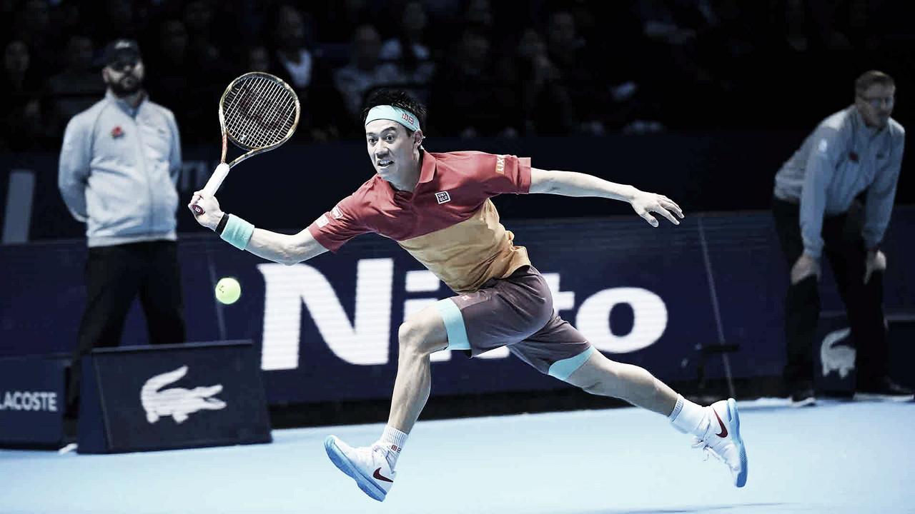 Nishikori bate Federer na primeira rodada do ATP Finals