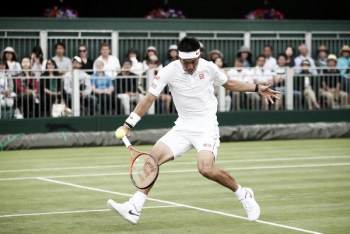 Nishikori vuela en su estreno en Wimbledon