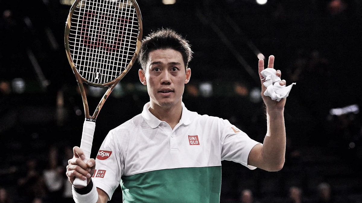 Nishikori vence reencontro com Anderson em Paris e se garante no ATP Finals