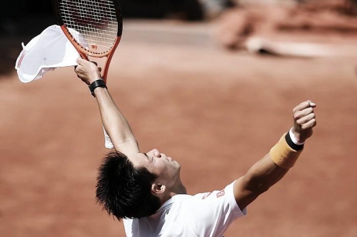 French Open: Kei Nishikori battles past Fernando Verdasco, advancing to a second quarterfinal in Paris