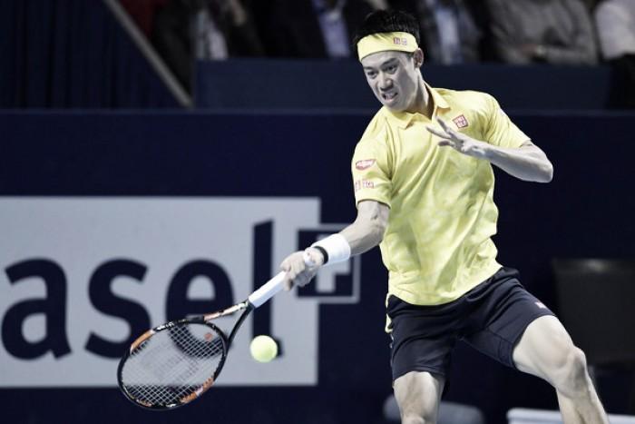 ATP Basel: Kei Nishikori wears down Juan Martin del Potro