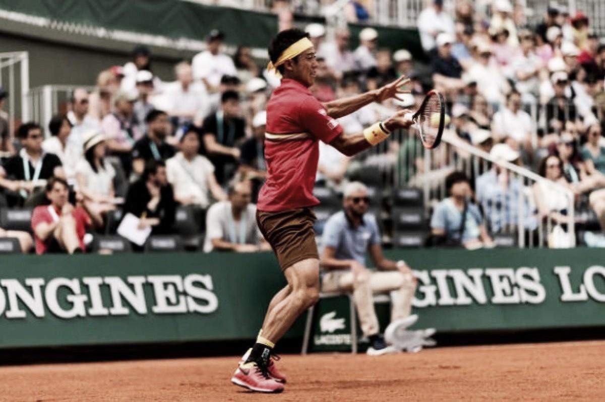 Nishikori estreia no Aberto da França com vitória tranquila contra wildcard Janvier