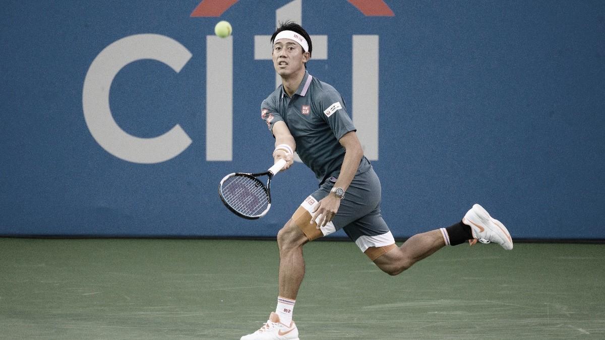 Nishikori bate Bublik e segue no ATP 500 de Washington; Dimitrov cai para Ivashka