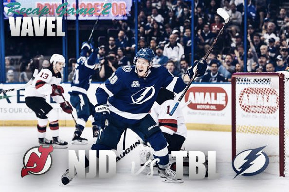 Lightning score five, take two-game lead over Devils