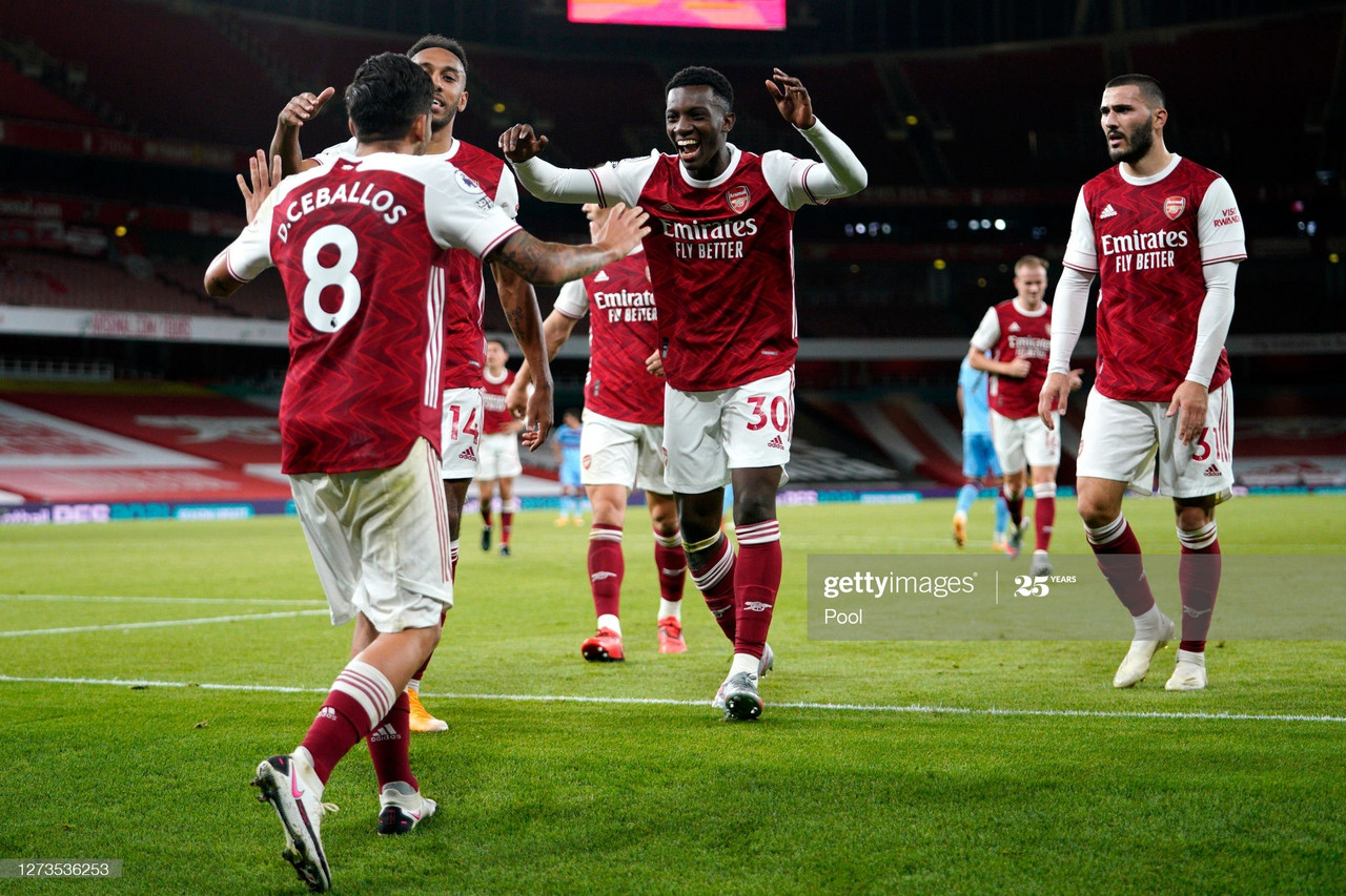 Arsenal 2-1 West Ham United: Nketiah winner secures London Derby victory