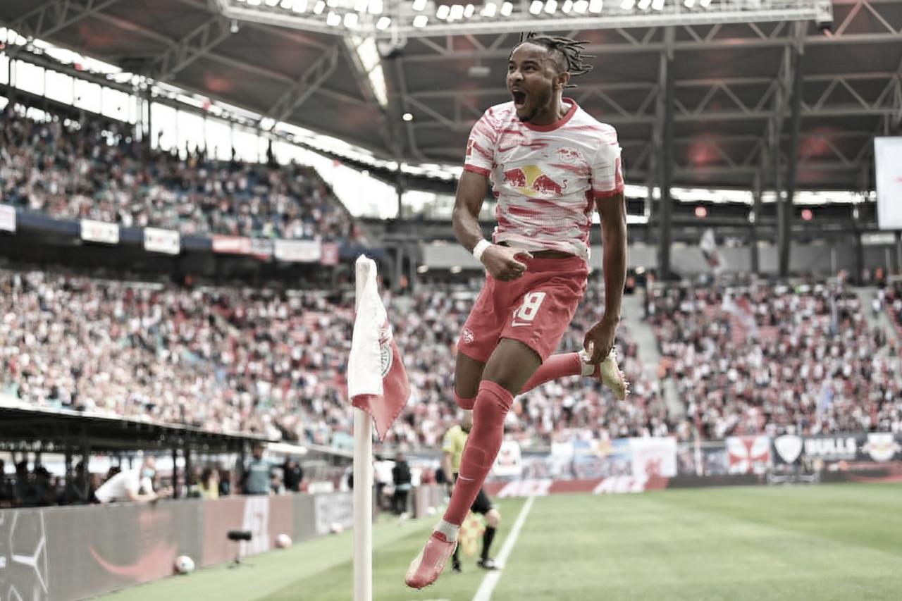 Com show de N'kunku, RB Leipzig goleia Hertha Berlin em casa pela Bundesliga
