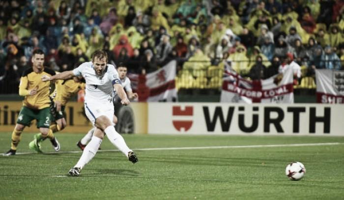Kane marca outra vez, Inglaterra derrota Lituânia e encerra participação nas Eliminatórias