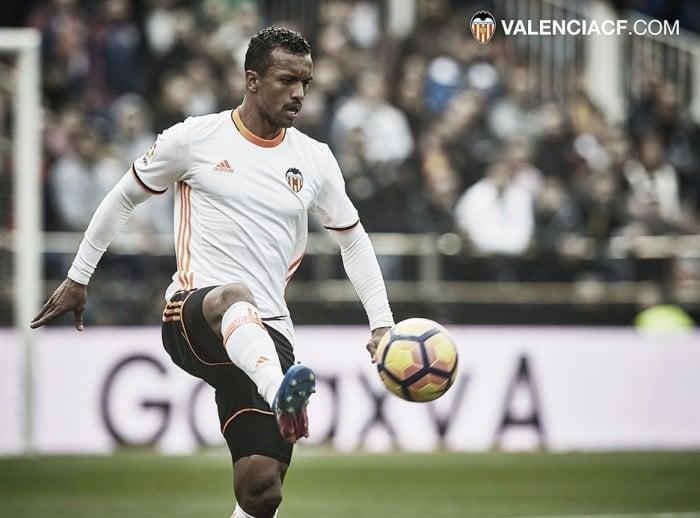 Nani se ejercita ya con relativa normalidad y podría reaparecer el próximo sábado en Mestalla