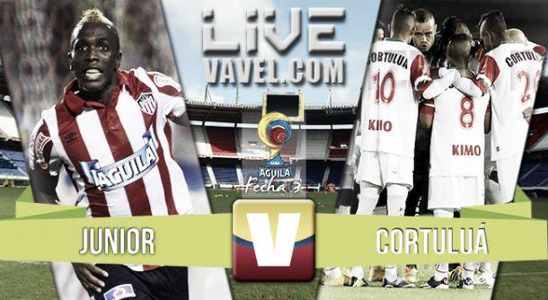 Resultado Junior - Cortuluá en Liga Águila 2015 (1-2)