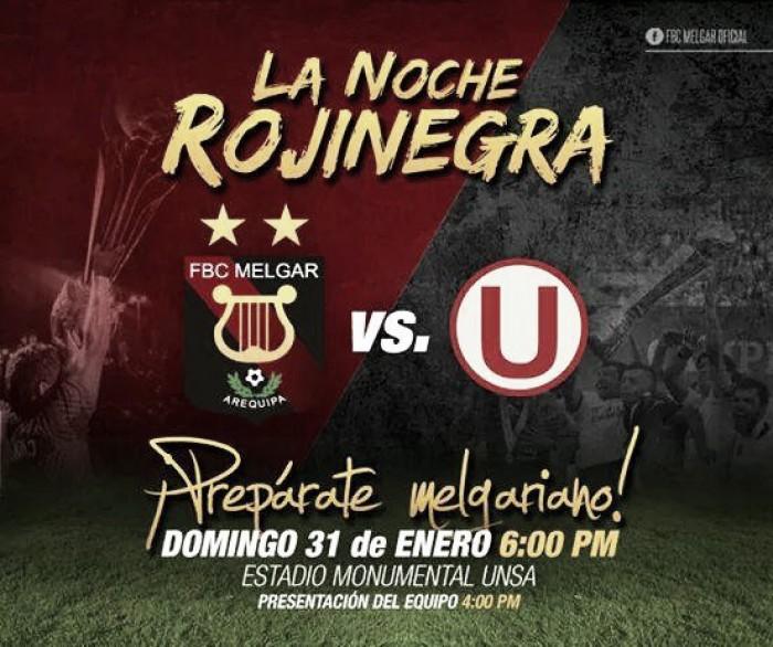 Melgar estrenará su plantel 2016 ante Universitario en la 'Noche Rojinegra'