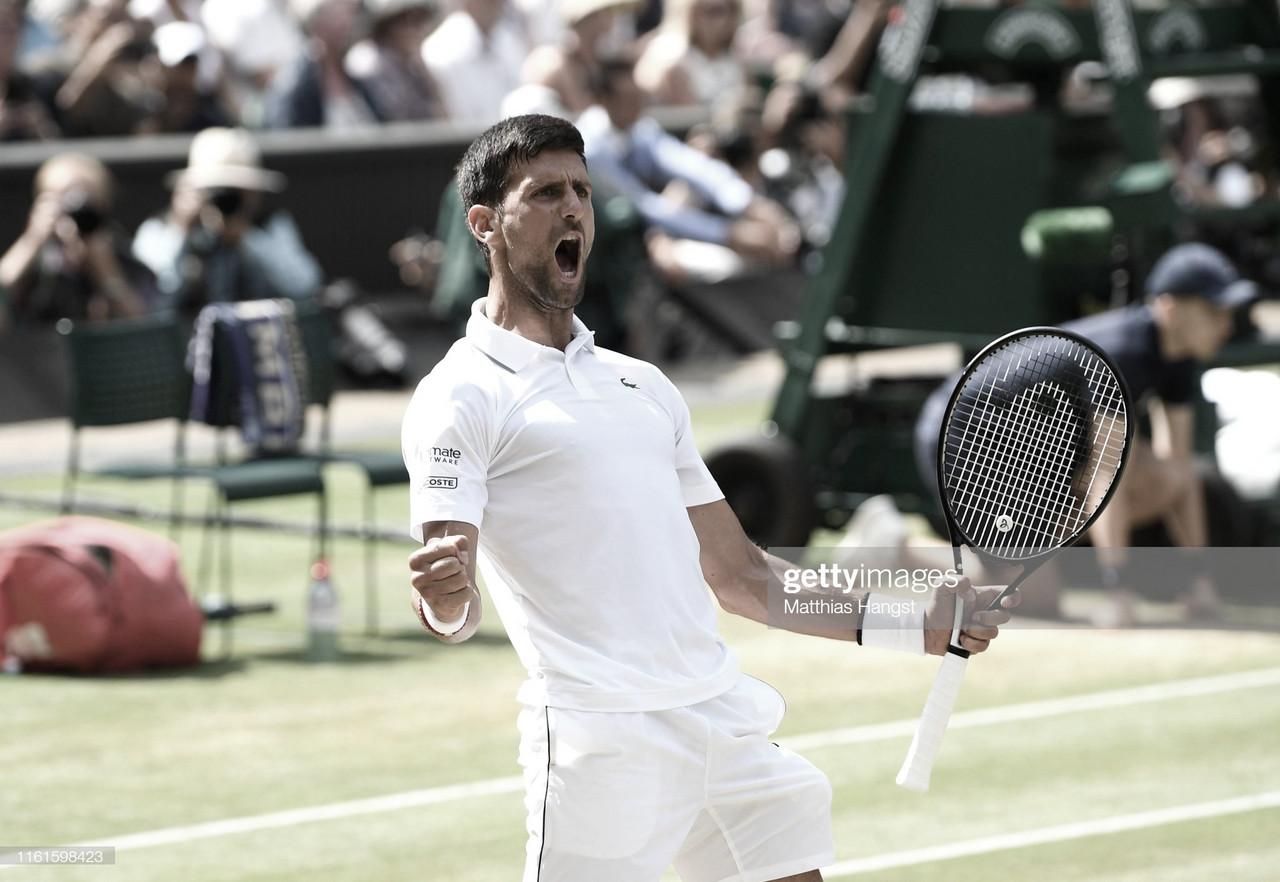 Djokovic alcanza su sexta final de Wimbledon tras derrotar a un muy combativo Bautista