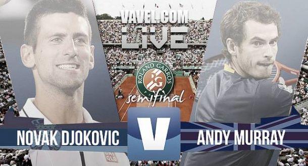 Risultato Djokovic Vs Murray Live: semifinale Roland Garros 2015 (3-2: 6-3; 6-3; 5-7; 5-7; 6-1)