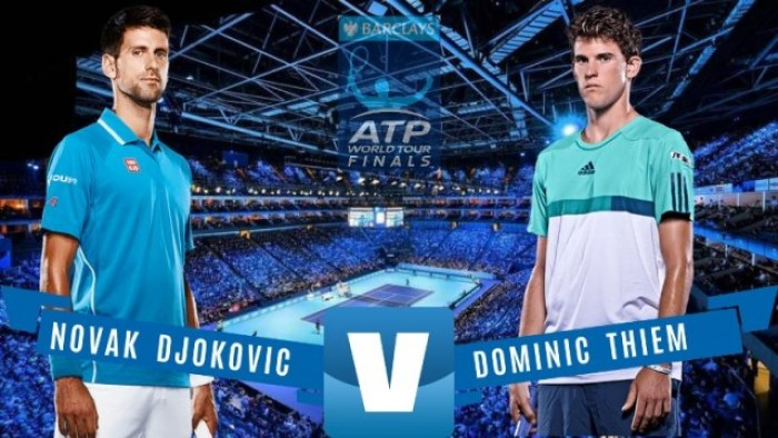 Partido Djokovic vs Thiem en ATP Finals 2016