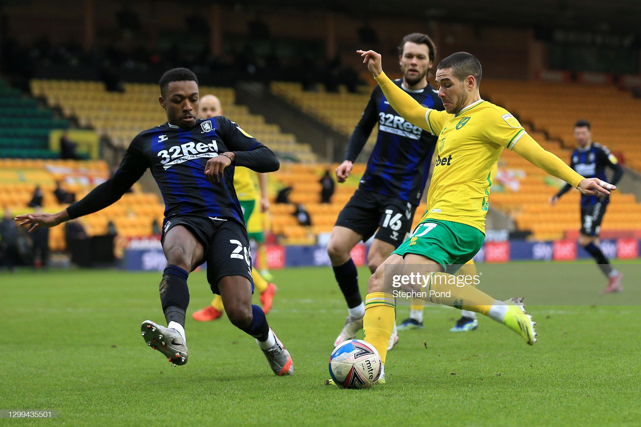 Norwich City 0-0 Middlesbrough: Honours even at Carrow Road as ten-man Norwich City hold on to a point