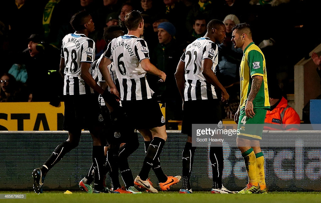 Newcastle United have now waited five years for a Premier League opponent to be sent off against them