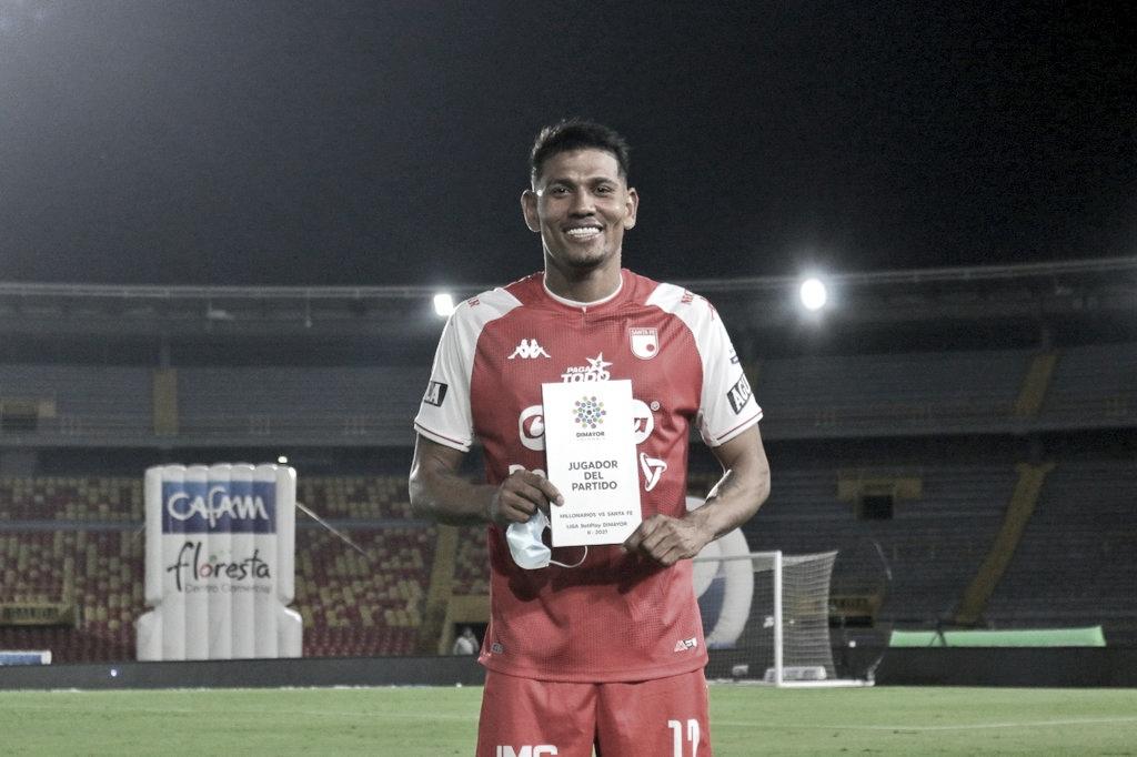 Alexander Mejía, el pilar de Santa Fe en la victoria frente a Millonarios