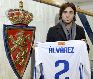 Pablo Álvarez presentado como nuevo jugador zaragocista