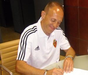 Álex Monserrate, nuevo entrenador del filial zaragocista