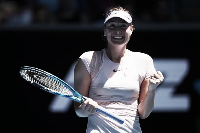 Sharapova impone el ritmo en su regreso a Melbourne