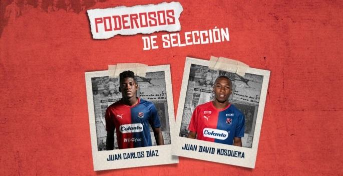 Dos jugadores del DIM llamados a la Selección Colombia Sub 20