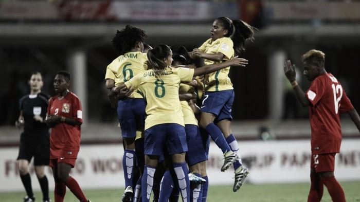 Brasil atropela Papua Nova Guiné pelo Grupo A da Copa do Mundo Feminina Sub20