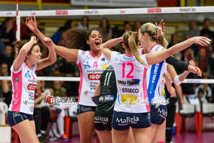 Volley, A1 femminie - Finale di play-off Scudetto: Gara 2 è senza storia, 3-0 a Novara