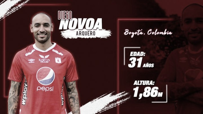 Diego Novoa, nuevo arquero del América de Cali