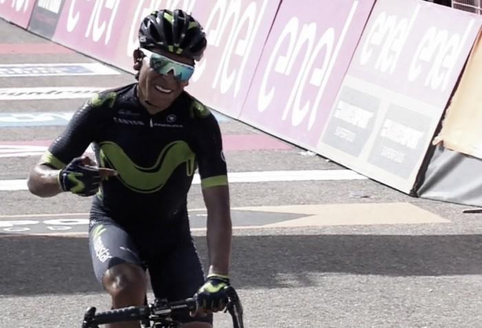 Giro d'Italia, Quintana stacca tutti sul Blockhaus ed è in rosa. Bene Pinot e Dumoulin, perde Nibali