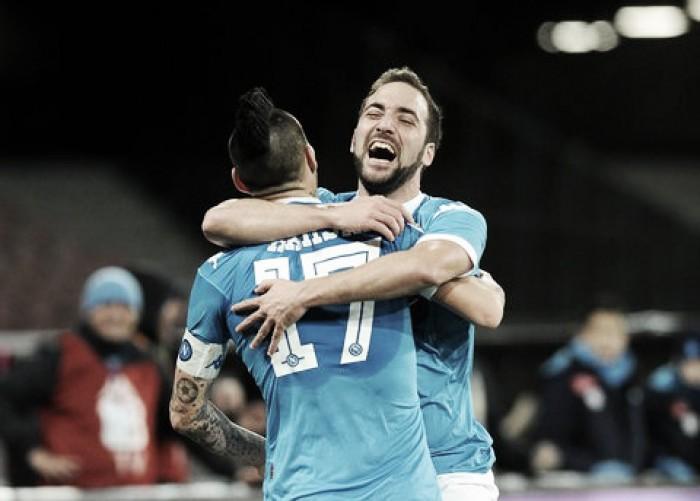 Higuain e co. battono un arrembante Sassuolo per 3-1 al San Paolo