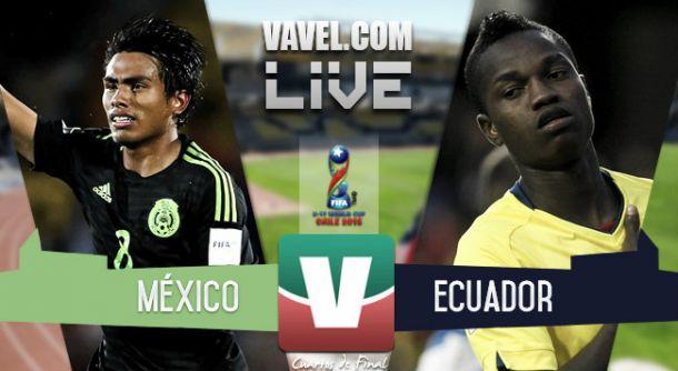 Resultado México - Ecuador Sub 17 en Mundial Sub 17 Chile 2015 (2-0)